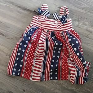 18 month girls red white and blue dress